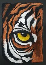 "Tiger Eye, Wild Animal, Exotic Cat Embroidered Patch 4.6"" x 6.8"""