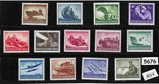 #5676   Complete Mint stamp set / Wehrmacht & other Military 1944 / Third Reich