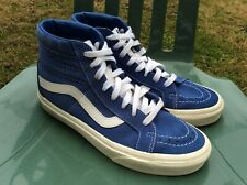 Vans Skateboard Trainers Boots High Tops Retro Blue & White Size UK 6