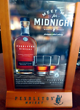 "Bar Sign, Tabletop PENDLETON WHISKEY ""Meet Me for Midnight""   New in Box"