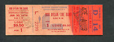 1974 Bob Dylan The Band unused full concert ticket Madison Square Garden NY