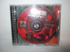 Resident Evil Survivor Playstation 1 PS1  Authentic Tested & Working