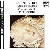 Addio Florida Bella-Madrigals for 3 & 5, Claudio Monteverdi, Very Good Import