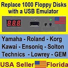 USB to Floppy Disk Drive Emulator Yamaha Roland Korg