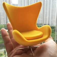 Dollhouse Sedia design 1:12 Egg Chair by Arne Jacobsen 1958 giallo yellow LAST