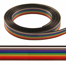 3 Meter Flachbandkabel 10-polig AWG28 1,27mm farbig