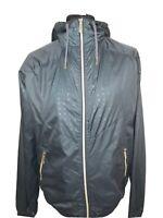 Jack & Jones Lightweight Grey Khaki & Gold Coat Jacket Indie Windbreaker L