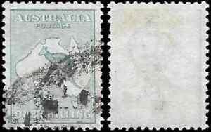 Australia, 1913, ROO, SG11a, 1s, DIE II, Wmk 2, USED, CV £27