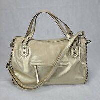 Jessica Simpson Gold Selena Large Tote Bag Purse Double Straps Women's Handbag
