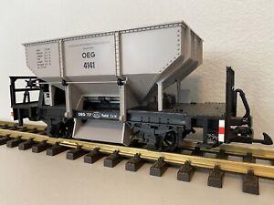 LGB 4141 :: Self-Unloading Car of the Upper Rhine Railway Company G-Scale • 2