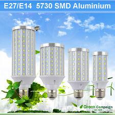 Aluminum Shell E27/E14 60W 30W 20W 10W 5730SMD LED Corn Light Lamp Bulb 85-265V