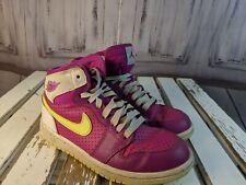 Nike girl youth shoes sneakers 1 1Y 705321-509 2014 pink retro GG fuchsia