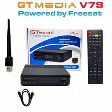 GT MEDIA V7S HD DVB-S2 Receptor de TV por Satélite con Antena WiFi - Negro
