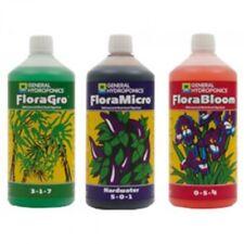 General Hydroponics GHE FloraGro FloraMicro HW FloraBloom 1L Flora