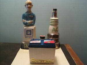 Jim Beam AC / Delco Battery / AC Spark Plug / Mr. Goodwrench / Empty