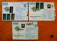 3 Airmail Covers with MIXED USSR (Soviet) & LATVIA postage