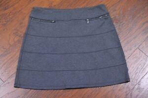 Athleta Strata Stretch A-Line Skirt Heather Gray Women's XL