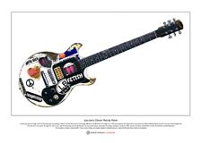 Joan Jett's Gibson Melody Maker Limited Edition Fine Art Print A3 size