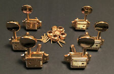 Guitar Parts WILKINSON Vintage ROUND Style - 3 Per Side 3x3 - TUNERS SET - GOLD