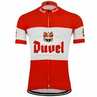 Mens Team Retro Duvel Beer Cycling Jerseys Short Sleeve