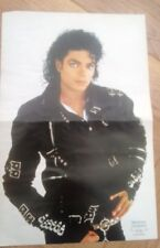 MICHAEL JACKSON in BAD gear Centerfold magazine POSTER  17x11 inches