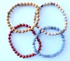 Lot de 4 bracelets ( 3 jaspes , 1 sodalite ) perle 6 mm , bijoux , lithothérapie