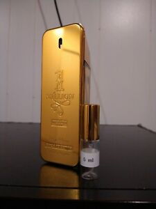 1 Million Absolutely Gold Parfum (Rare!) *5 ml sample only! Not a full bottle!