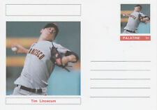 CINDERELLA  6416 - BASEBALL - TIM LINCECUM - Fantasy Postal Stationery card