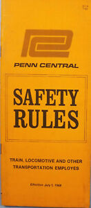 Penn Central July 1968 Train Locomotive Safety Rules Employee Brochure