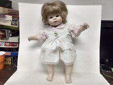 """Koltz Blonde Baby Girl Porcelain Doll 21"""" Pink Floral Dress                ds310"""