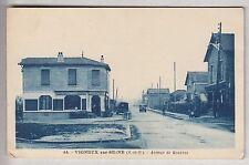 CPA VIGNEUX SUR SEINE 91  -  GRAINETERIE VOITURE VELO AVENUE DE ROUVRES 1936~B64