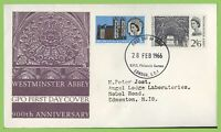 G.B. 1966 Westminster Abbey set on GPO First Day Cover, Bureau London