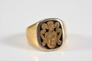 """k47g07- 750er/ 18kt Gold Ring, Siegelring, Wappenring """"FB"""""""