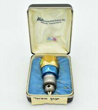 Waters Mfg Model 651x 4 Torque Watch Gauge With Jacobs Multicraft Chuck 14 Cap