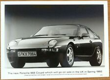 PORSCHE 968 COUPE PRESS PHOTOGRAPH CIRCA 1992 BLACK & WHITE