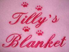 Personalizado Perro/Mascota Manta Disponible en 9 Colores