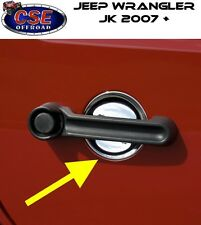 Chrome Door Recess Guards Jeep Wrangler JK 07-16 2 Door 13311.15 Rugged Ridge