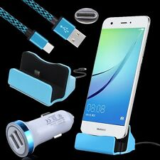 Car Charger+Type C Charging Dock+Cable for ZTE Blade Spark Z971, V8 Pro, Max XL
