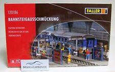 Faller 1/87 (H0): 120186 Platform Decorations Platform Decorations