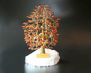Glücksbaum Glücksbäumchen aus Bernstein Bernsteinbaum I 19 cm Handmade