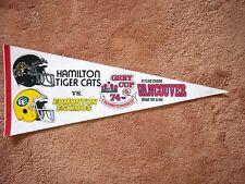 1986 HAMILTON TIGER CATS EDMONTON ESKIMOS CFL GREY CUP FOOTBALL PENNANT SHARP!!