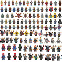 Avengers Marvel DC Comic Superhero Spider-Man Hulk Thor Kids Building Blocks Toy