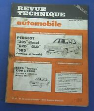 Revue technique RTA 407 Peugeot 305 diesel GRD GLD SRD berline et break