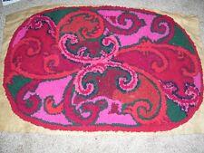 Antique handmade hooked rug-24x36, unfinished