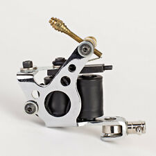 NEW Pro Tattoo Machine Gun Dual 10-Wrap Coils Set Steel Frame Liner & Shader