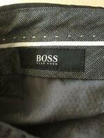 Mens Hugo Boss Dark Gray Flat Front Dress Pants Size 30R