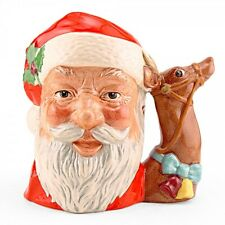 Royal Doulton 1982 Character Jug~Santa~Reindeer Handle~D6675~Signed/Dawn Lammas
