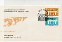Turkish Federated Cyprus 1984 Europa Bridge Cancel FDC Stamps Cover Ref 23647