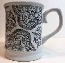 Signature Housewares Room Creative Batik Gray Coffee Mug 2014 Stoneware Tea Cup