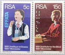 RSA SÜDAFRIKA SOUTH AFRICA 1981 587-88 Institut Taube & Blinde Medizin MNH